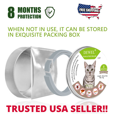 Flea Collar for Cat Dog, 8 Month Tick & Flea Collar Dewel Flea Collar Small Dog
