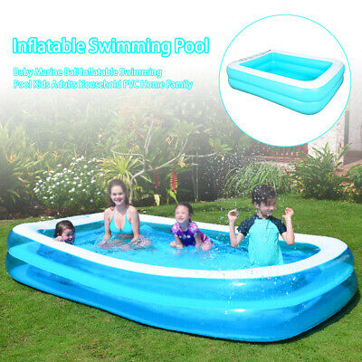 Large Family Swimming Pool Outdoor Garden Summer Inflatable Kid Paddling Pool UK