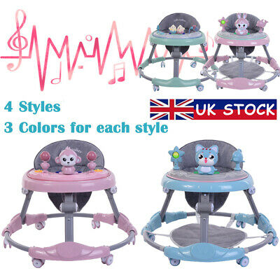 New Baby Walker First Steps Push Along Bouncer Activity Musical Toy Tray - Gifts
