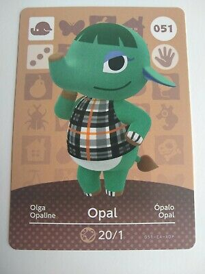 Opal #051 Animal Crossing Amiibo Card Series 1 Nintendo Switch 3DS Wii U
