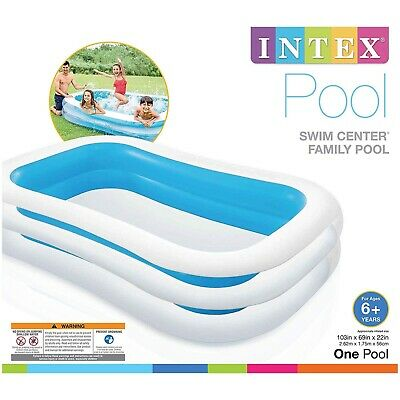 Intex Large  Family Swimming Pool Garden Outdoor Summer Inflatable