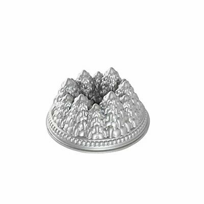 NordicWare 89737 Stampo Foresta di Pine Forest (New Holiday Tree), Argento