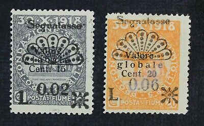 CKStamps: Italy Stamps Collection Fiume Scott#J15 J18 Mint H OG #J18 Offset