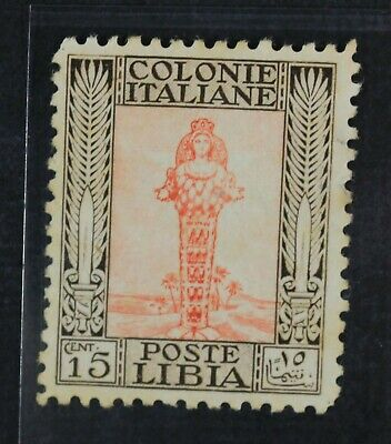 CKStamps: Italy Stamps Collection Libya Scott#52a Mint LH OG Gum Stain