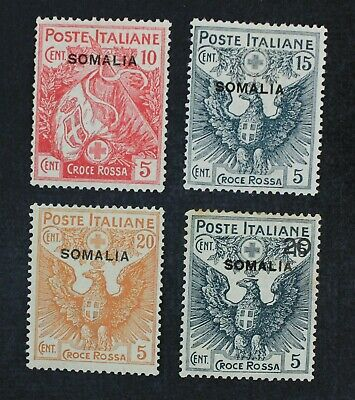 CKStamps: Italy Stamps Collection Somalia Scott#B1-B4 Mint H OG