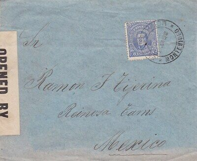 1918 Uruguay #206 on censored cover to Mexico  *d