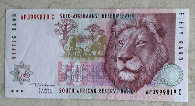 South Africa 1992  50 rand  About Uncirculated
