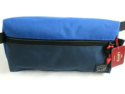 Levi Strauss Zip Up Travel Kit Toiletry Bag Dopp Kit Blue Red Free Ship NWT NR