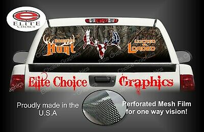 Born To Hunt Camo Rear Window Graphic Decal Sticker Truck Car