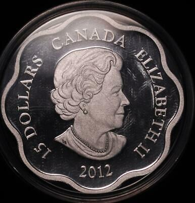 Uncirculated 2012 Canada Lunar Lotus-Year of the Dragon Silver Coin