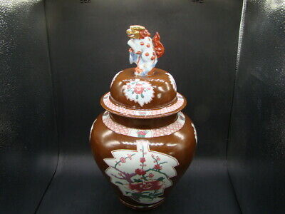 Chinese 19th century nice big enamel painted cover jar  w3913