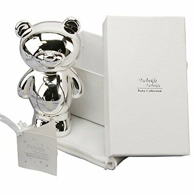 Twinkle placcato argento Baby Gift – Teddy Money box Box & bag...