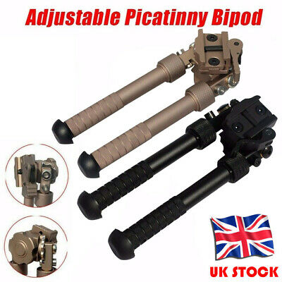 "4-9"" Adjustable Metal Spring Swivel Bipod Adapter Rail for Hunting Air Rifle New"