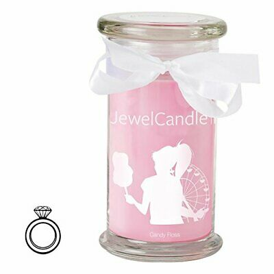 JewelCandle Candy Floss - Candela in Vetro con Un Floss-Anello M