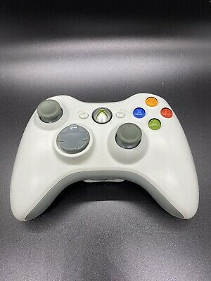 Genuine Microsoft Xbox 360 Wireless Controller white tested and works
