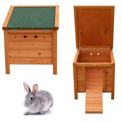 "20"" Wooden Rabbit Hutch Pet Bunny Small Animal House Sleep Play Cages Habitat"