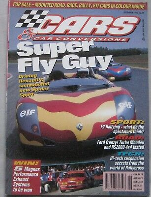 Cars & Car Conversions magazine September 1995 featuring Renault Spider
