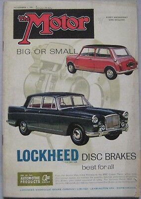 Motor magazine 1 November 1961 featuring Peugeot 403B road test
