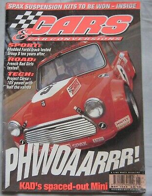 Cars & Car Conversions magazine May 1996 featuring Renault Sport Spider