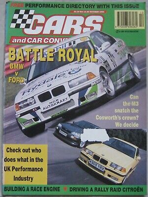 Cars & Car Conversions magazine October 1993 featuring BMW M3, Ford Cosworth