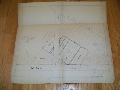 1800's Map Elizabeth NJ James S. Vosseller  Lot Owners Grove West Jersey