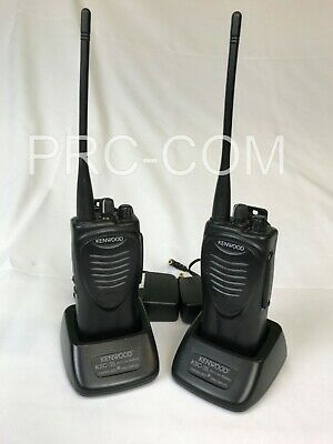 Kenwood TK-3200, Two Channel, Two Way Radios, Set of Two, Black