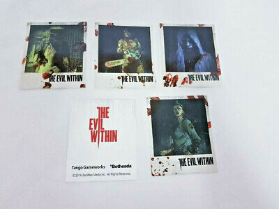 The Evil Within Characters Card Set Cards Artwork Bethesda 2014