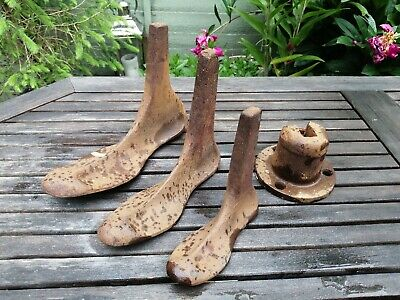 Antique Cast Iron Cobblers Shoe Lasts & Stand AJK Kenrick- doorstop or man cave!