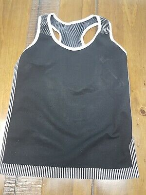 Girls Primark active black Sport Top Vest Gym Running Dance 11-12 years