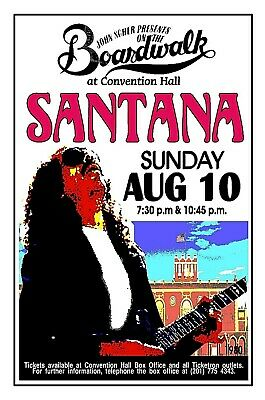 SANTANA 1980  ASBURY PARK NJ Convention Hall POSTER/SIGN by THouse