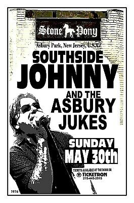 SOUTHSIDE JOHNNY 1976 THE STONE PONY Asbury Park NJ POSTER/SIGN by THouse