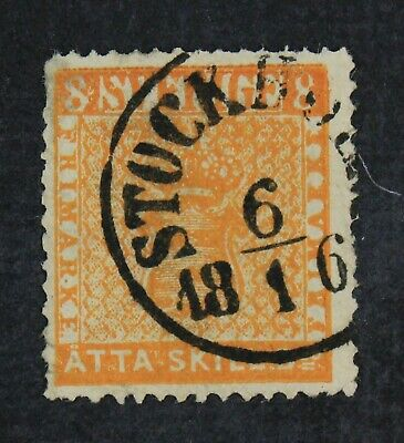 CKStamps: Sweden Stamps Collection Scott#4 Used Tiny Thin