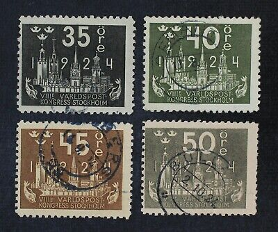 CKStamps: Sweden Stamps Collection Scott#203-206 Used