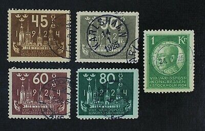 CKStamps: Sweden Stamps Collection Scott#205-209 Used #209 Thin