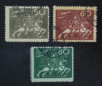 CKStamps: Sweden Stamps Collection Scott#222-224 Used