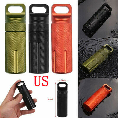 Aluminum EDC Survival Kit Waterproof Seal Bottle Tank Capsule Storage Cont Uylj