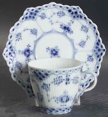 Royal Copenhagen BLUE FLUTED FULL LACE Demitasse Cup & Saucer 7003623