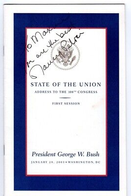 2003 Nancy Pelosi SIGNED George Bush State of the Union Address Program