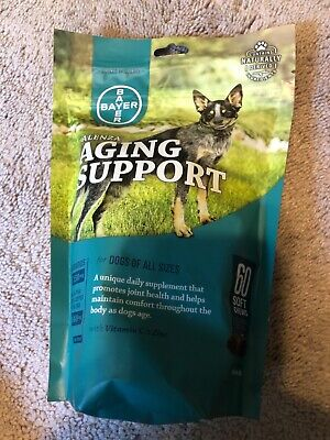 Bayer Alenza Aging Support 60 Soft Chews For Dogs Exp 02/21 NEW Sealed