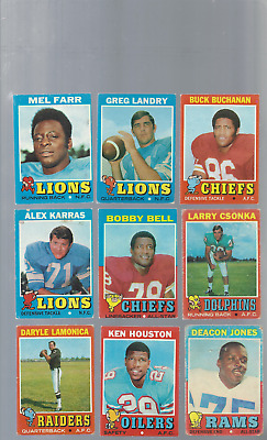 1971 Topps Football Lot Of 49 Cards. No Duplicates. Stars And Commons