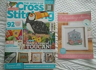 * Latest Issue * The World Of Cross Stitching Magazine Issue 295 & Gift ***
