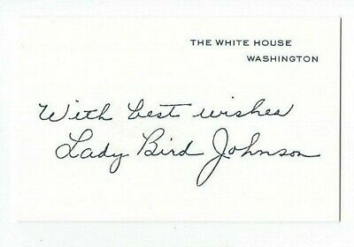 Lady Bird Johnson White House Stationary stamped autograph