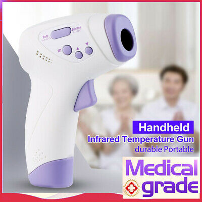Non-Contact Infrared LCD Digital Forehead Baby / Adult Body Temp Thermometer A++