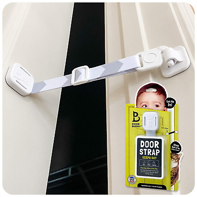 Baby Proof Door Lock with Adjustable Strap No Need for Baby Gate New
