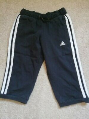 black Adidas cropped joggers - Size small girls, age 7-8 years