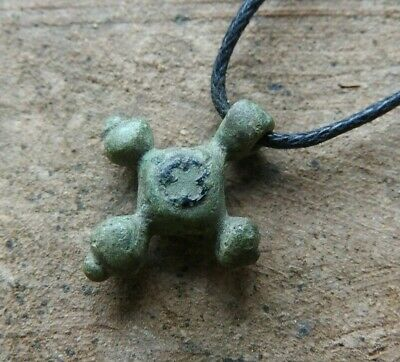 Little ancient viking cross. Antique pendant of the Cross. 10-11 AD