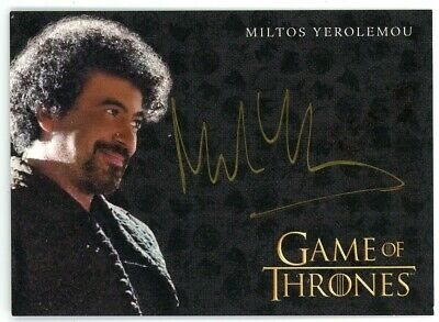 2020 Game of Thrones Season 8 Miltos Yerolemou (Gold) Autograph VERY LIMITED