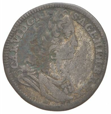 Roughly Size of Nickel 1726 Austria-Habsburg 3 Kreuzer World Silver Coin *202