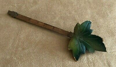 Cuckoo Clock green leaf wood pendulum parts made in Germany Black Forest