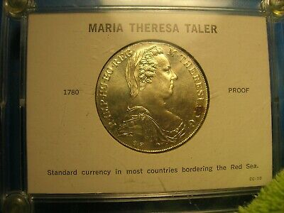 Maria Theresa Thaler  1780 proof     restrike    silver    in case
